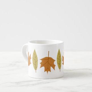 Simple Fall Leaves Designer Espresso Mug