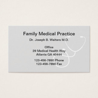 Simple Family Doctor Business Card