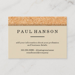 Cork board business cards zazzle au simple faux cork trim print business card reheart Images