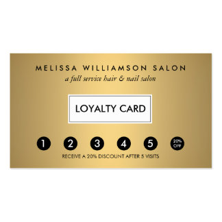 Simple Faux Gold Customer Loyalty Punch Card Pack Of Standard Business Cards