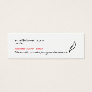Simple feather/leaf skinny business card