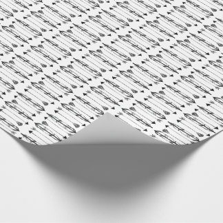 Simple Feathers and Arrows Wrapping Paper