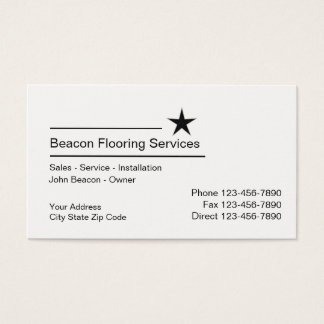 Simple Flooring Services Business Card