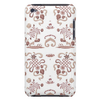 Simple Floral and Shapes on White iPod Touch Case