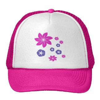 Simple floral mix trucker hat