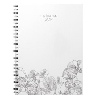 Simple Floral Notebook or Journal
