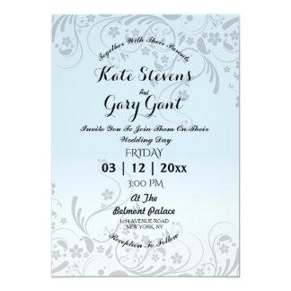 Floral pattern wedding invitations announcements for Minimalist floral wedding invitations