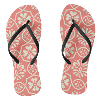 Simple floral pattern flip flops for everyday wear thongs