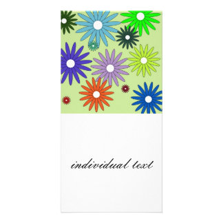 Simple floral pattern (I) Customized Photo Card