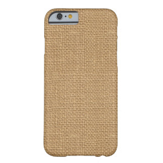 Simple floral rustic burlap texture barely there iPhone 6 case