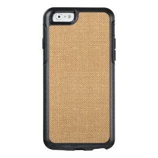Simple floral rustic burlap texture OtterBox iPhone 6/6s case