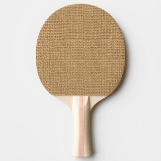 Simple floral rustic burlap texture ping pong paddle