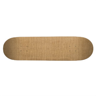 Simple floral rustic burlap texture skateboards
