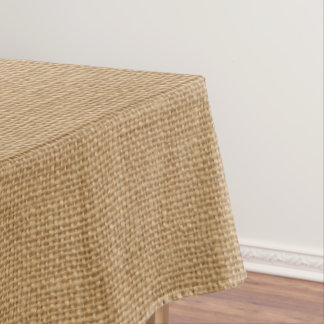 Simple floral rustic burlap texture tablecloth