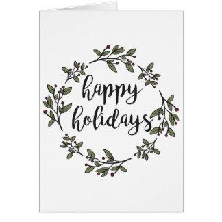 Simple Floral Wreath Card