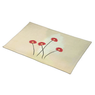 simple flower shapes American MoJo Placemats