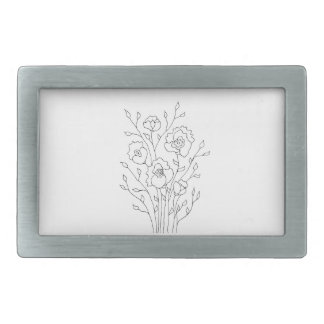 Simple Flowers Belt Buckles