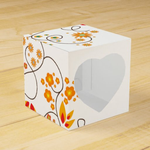 Simple Flowers & Butterflies - Heart Gift Box 1 Party Favor Boxes