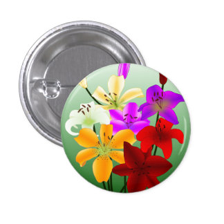 Simple Flowers Button