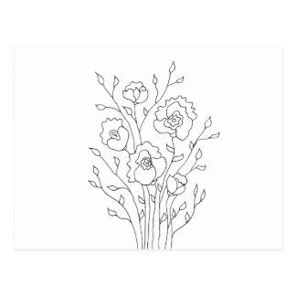 Simple Flowers Postcard