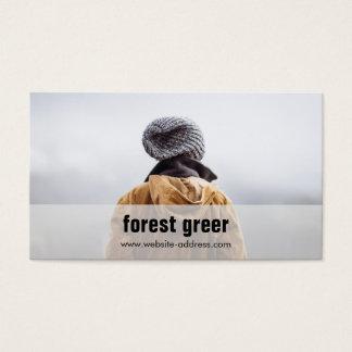 Simple Freelance Photographer Add Photo Business Card