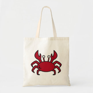 Simple funny cartoon red crab tote bag