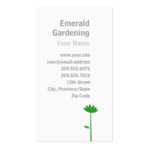 Simple Gardening / Lawn Care Flower Business Card
