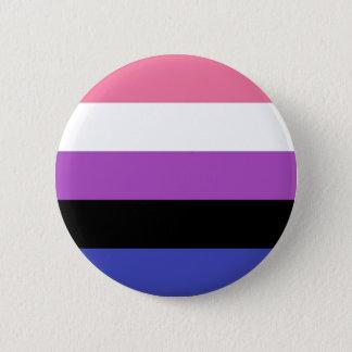 simple genderfluid 6 cm round badge