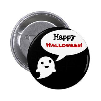 Simple Ghost Speech Happy halloween Buttons