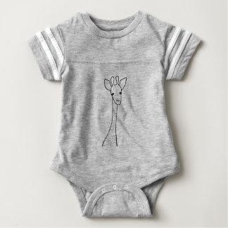 Simple Giraffe Baby Bodysuit