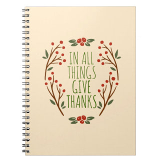 Simple Give Thanks Thanksgiving | Notebook