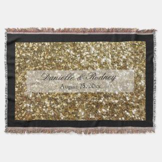 Simple Gold Glitter Printed Wedding
