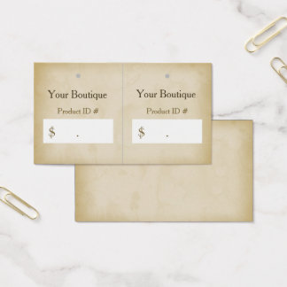 Simple Gold Grunge Modern Boutique Hang Tags Business Card
