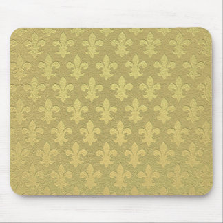 Simple golden royal fleur de lis pattern mousepads