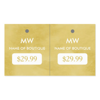 Simple Goldenrod Chic Boutique Monogram Hang Tags Pack Of Standard Business Cards