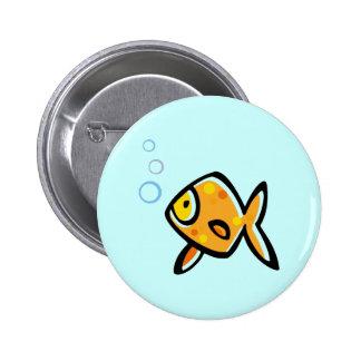 Simple Goldfish 6 Cm Round Badge