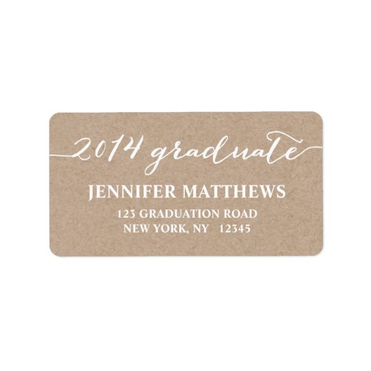 Simple Grad Kraft Graduation Address Label