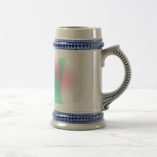 Simple Graded Abstract Art Beer Steins