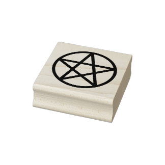 Simple Graphic Pentacle Rubber Stamp
