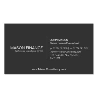 Simple Gray Customizable Business Card Template