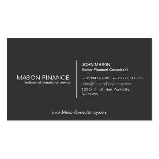 Simple Gray Customizable Business Card Template