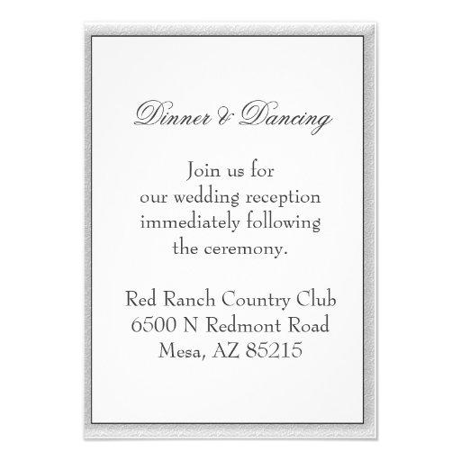 Simple Gray Eco Friendly Wedding Enclosure Personalized Invitation
