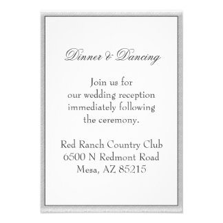 Simple Gray Eco Friendly Wedding Enclosure Invitations