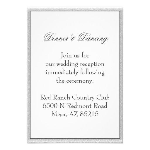 Simple Gray Eco Friendly Wedding Enclosure Invitations