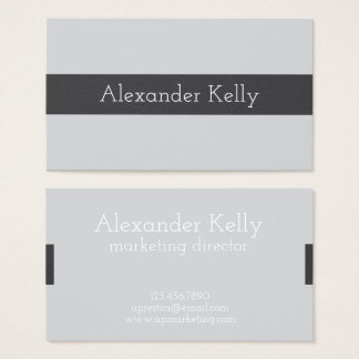 Simple Gray Modern Business Cards