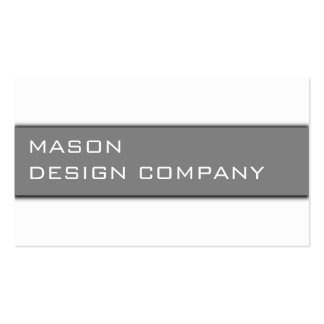 Simple Gray & White Corporate Stylish Card Double-Sided Standard Business Cards (Pack Of 100)