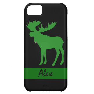 Simple green black moose custom iphone 5 case