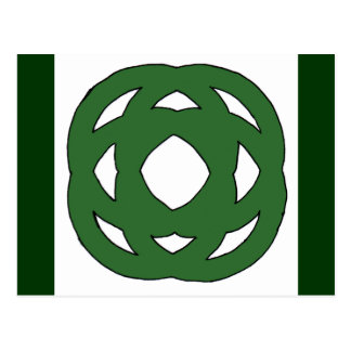 Simple Green Circle Knot Postcard