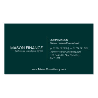 Simple Green Customizable Business Card Template