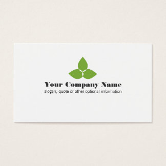 Simple Green Leaf Logo Business Card